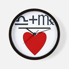 Libra + Virgo = Love Wall Clock