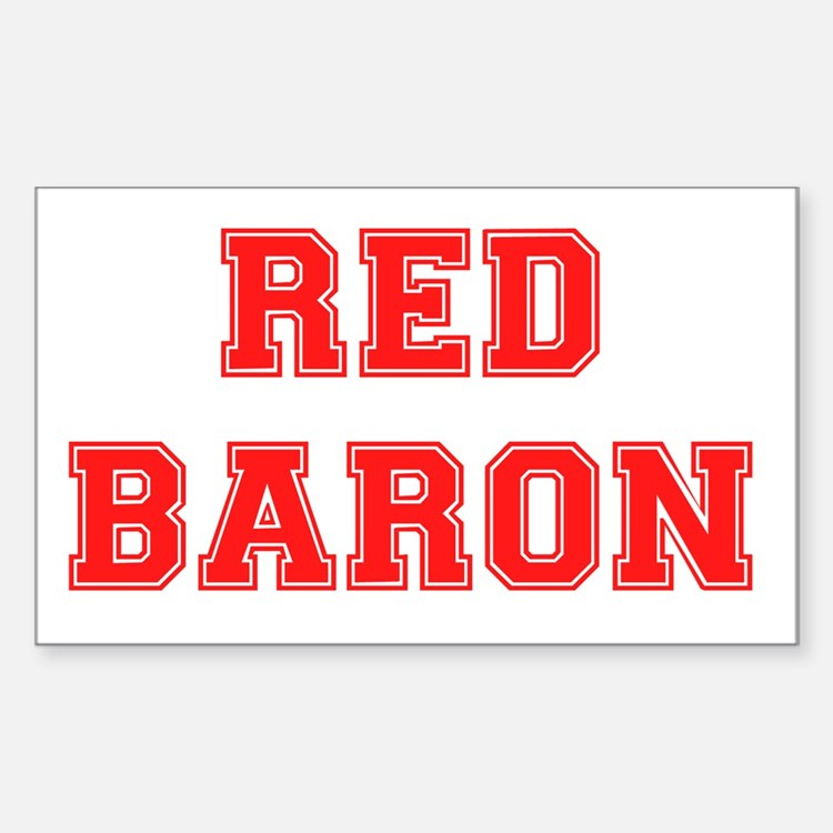 RED BARON. Decal