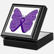 Butterfly Leiomyosarcoma Ribbon Keepsake Box