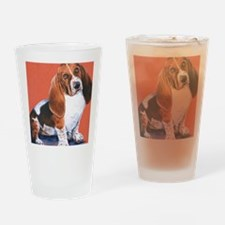 Basset Hound by Dawn Secord Drinking Glass