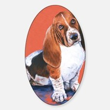 Basset Hound by Dawn Secord Sticker (Oval)