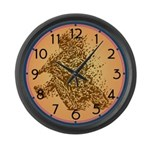 Dirt Biker Large Wall Clock