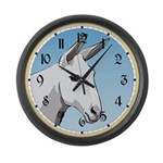 White Mule Large Wall Clock