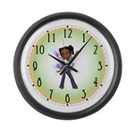 Jasmine Hip Hop Fairy Large Wall Clock