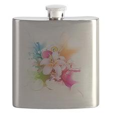 Plumeria Color Flask