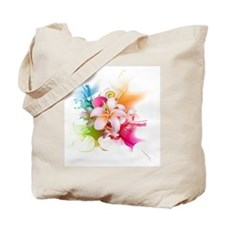 Plumeria Color Tote Bag