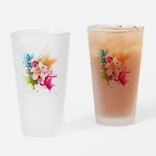 Plumeria Color Drinking Glass