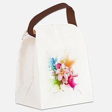 Plumeria Color Canvas Lunch Bag