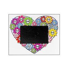 2-Skull Heart Picture Frame