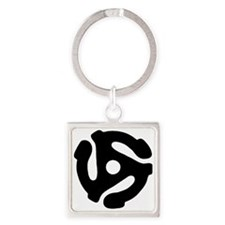 45 Record Adapter Keychains
