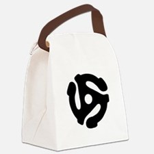 45 Record Adapter Canvas Lunch Bag