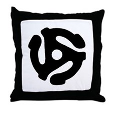 45 Record Adapter Throw Pillow
