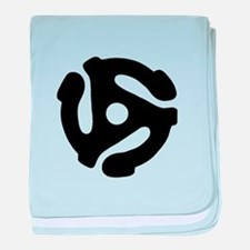 45 Record Adapter baby blanket