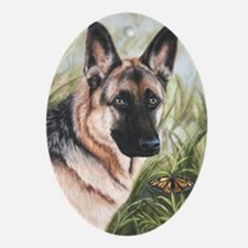German Shepherd Dog Oval Ornament