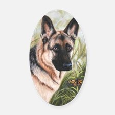 German Shepherd Dog Oval Car Magnet