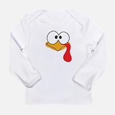 Happy Thanksgiving Baby Cute Turkey Long Sleeve T-