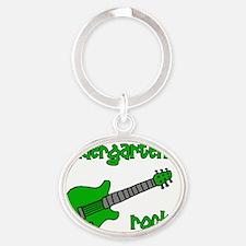 kindergartenrocks_green Oval Keychain