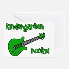 kindergartenrocks_green Greeting Card