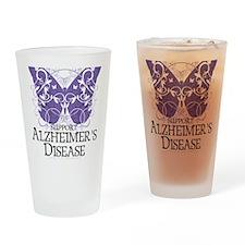 Alzheimers-Butterfly Drinking Glass