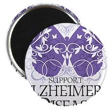 Alzheimers-Butterfly Magnet