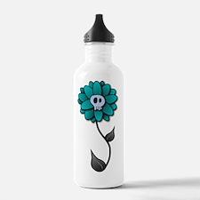 Skull Flower-white Water Bottle