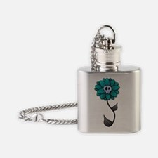 Skull Flower-white Flask Necklace