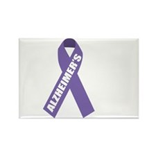 Alzheimers-Hope-blk Rectangle Magnet