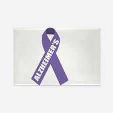 Alzheimers-Hope-blk Rectangle Magnet