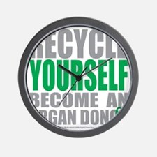 Recycle-Yourself-Organ-Donor Wall Clock