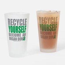 Recycle-Yourself-Organ-Donor Drinking Glass