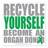 Organ transplant Square Car Magnets