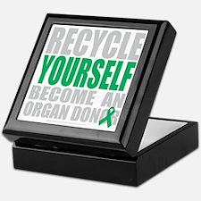 Recycle-Yourself-Organ-Donor-blk Keepsake Box