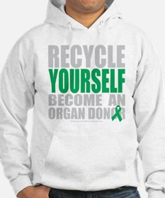 Recycle-Yourself-Organ-Donor-blk Hoodie