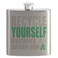 Recycle-Yourself-Organ-Donor-blk Flask