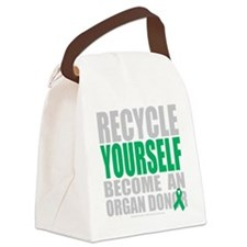 Recycle-Yourself-Organ-Donor-blk Canvas Lunch Bag