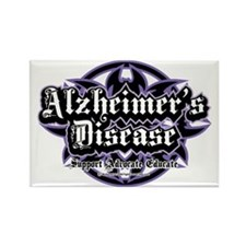 Alzheimers-Tribal Rectangle Magnet
