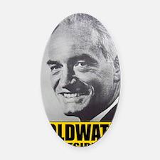 ART Goldwater for President Oval Car Magnet