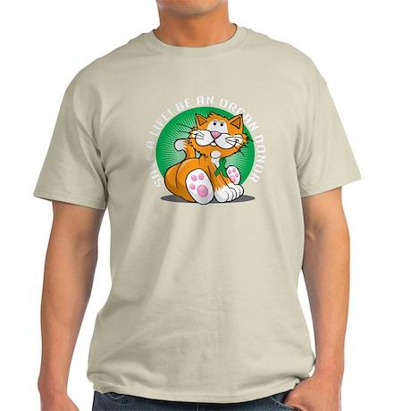 Organ-Donor-Cat-blk Light T-Shirt