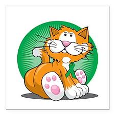 "Organ-Donor-Cat-blk Square Car Magnet 3"" x 3"""