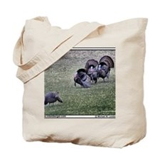 Z-08-Turkeys Fanning Tote Bag