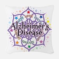Alzheimers-Lotus Woven Throw Pillow