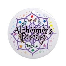Alzheimers-Lotus Round Ornament