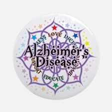 Alzheimers-Lotus Round Ornament
