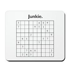 Sudoku Junkie Mousepad