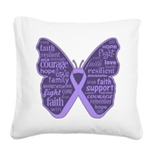 Butterfly General Cancer Square Canvas Pillow