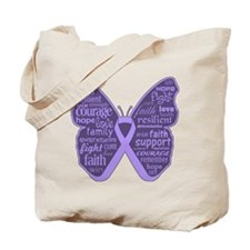 Butterfly General Cancer Tote Bag