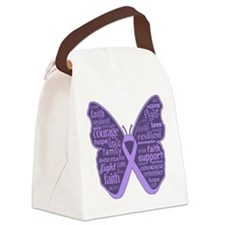 Butterfly General Cancer Canvas Lunch Bag