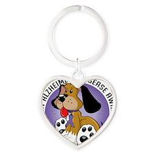 Alzheimers-Dog Heart Keychain
