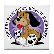 Alzheimers-Dog Tile Coaster