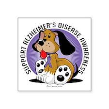 "Alzheimers-Dog Square Sticker 3"" x 3"""